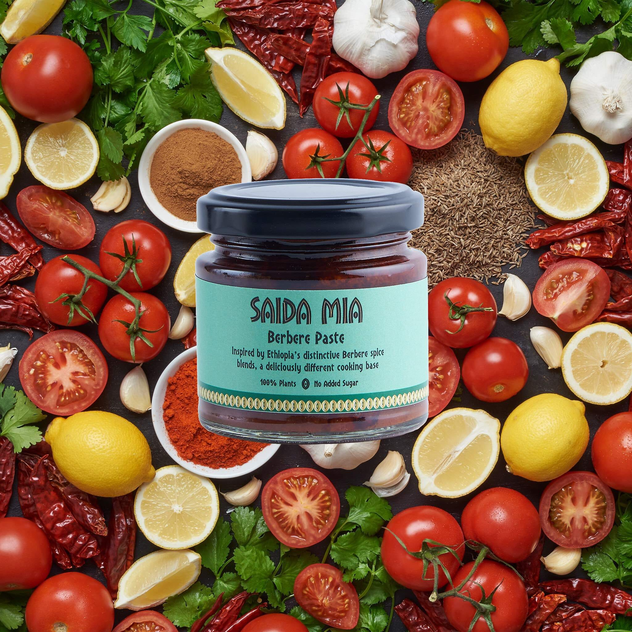 Saida Mia African Products Berbere Paste Pack Ingredients Image