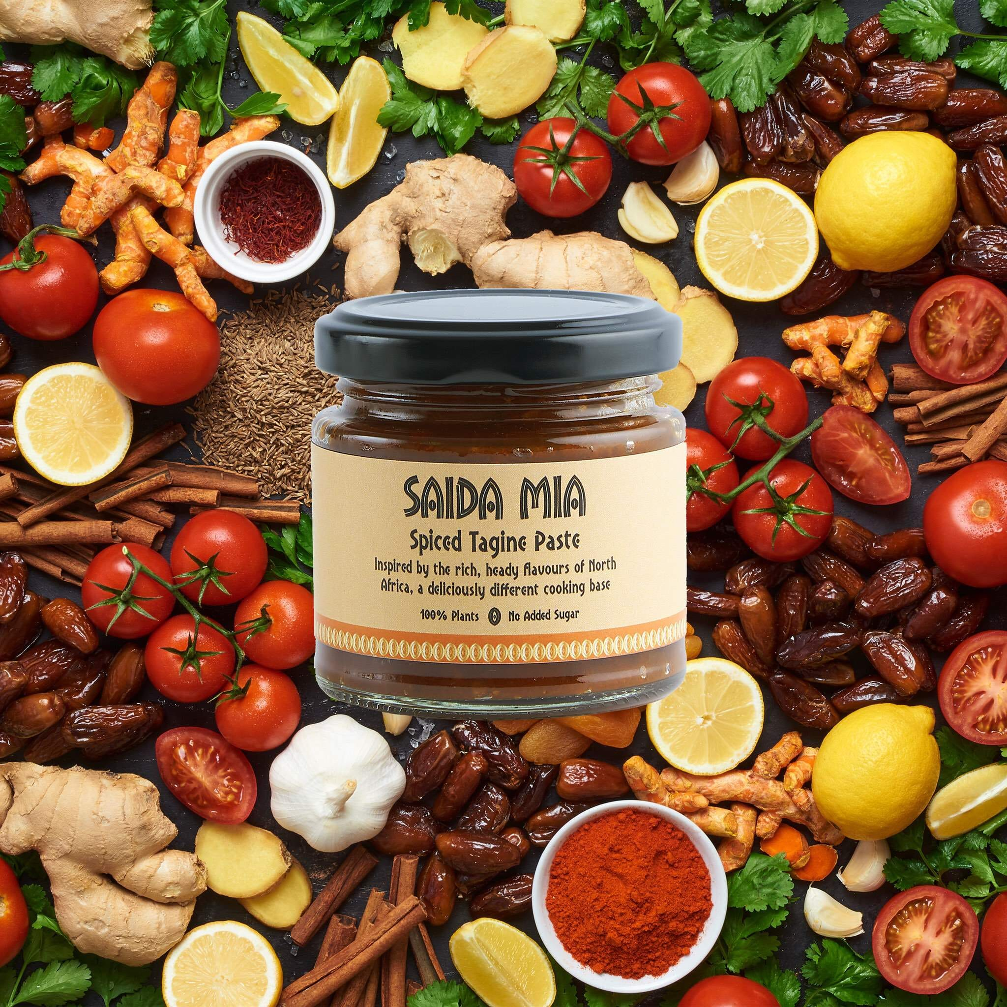 Saida Mia African Products Tagine Paste Pack Ingredients Image