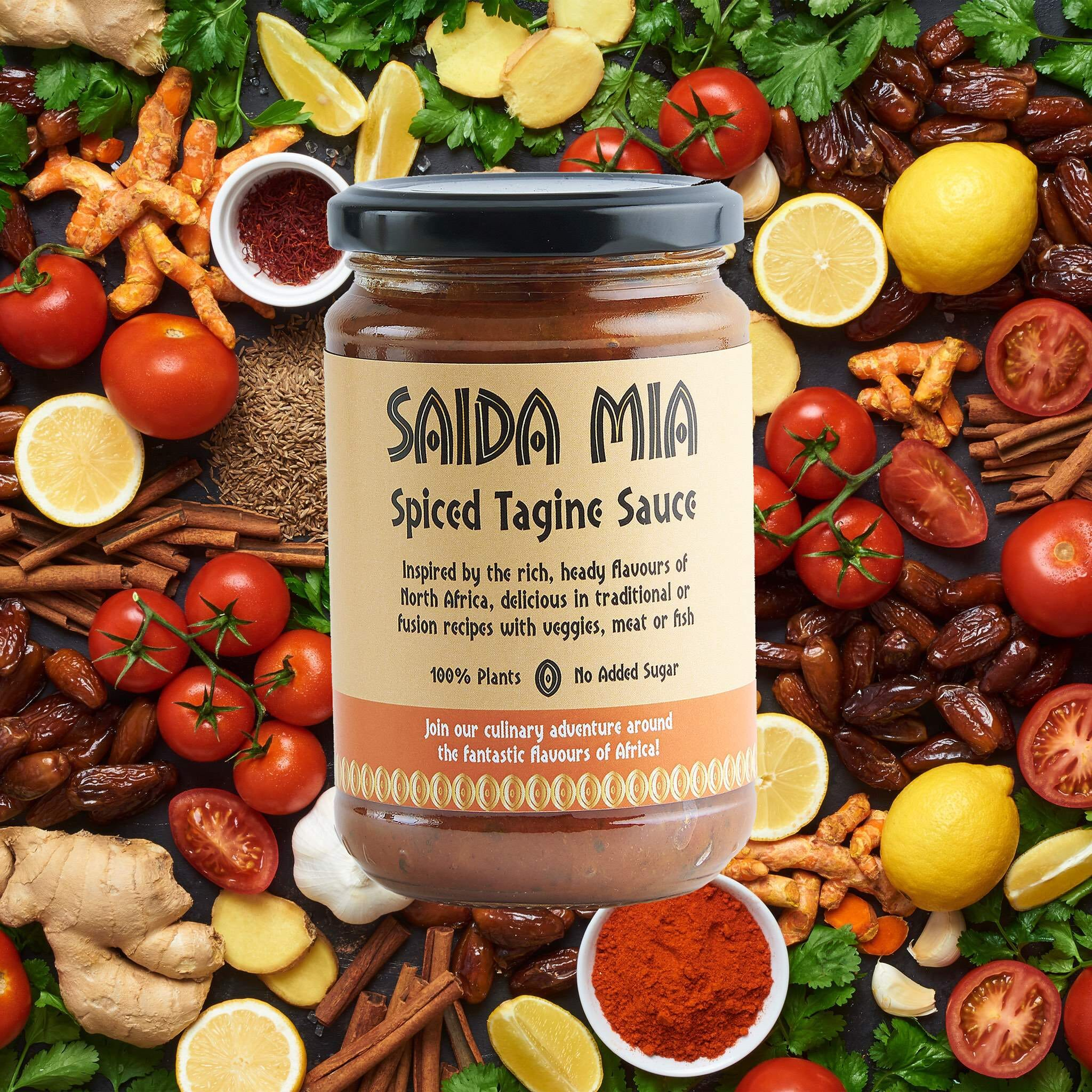 Saida Mia African Products Tagine Sauce Pack Ingredients Image
