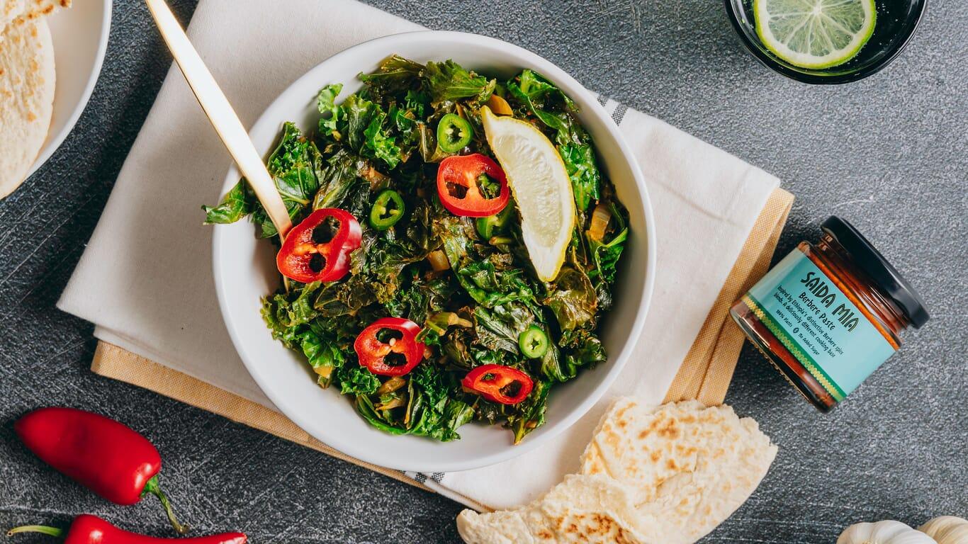 Saida Mia African Food Recipes Ethiopian Berbere Kale Image